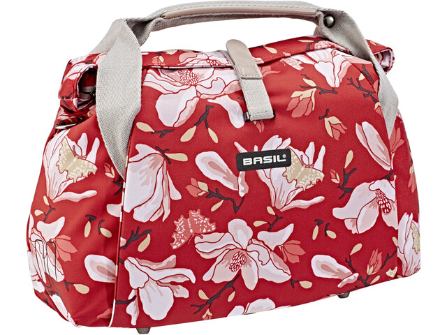 Basil Magnolia City Handlebar Bag 7L, poppy red
